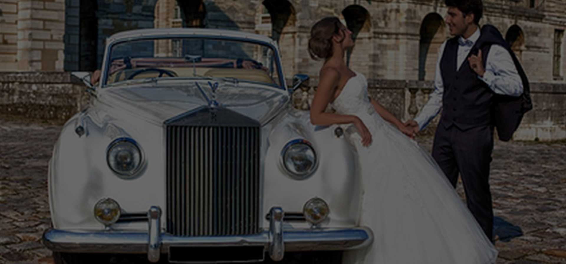 voiture de mariage de luxe