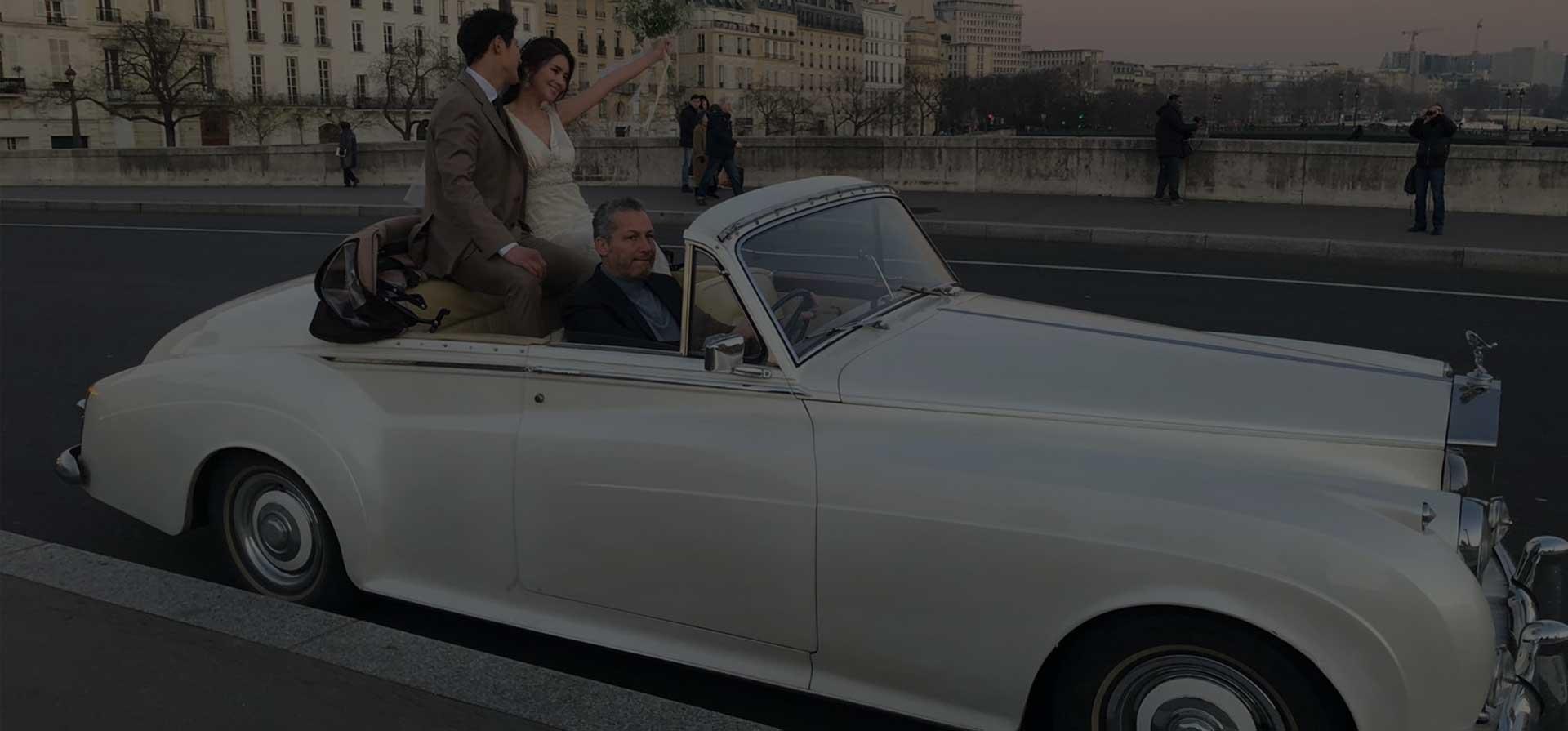 Location voiture de mariage de luxe